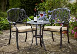 Garden Bistro Table Enticing Garden Bistro Set Design Introducing Arched Armchairs
