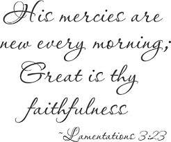 his mercies lamentations wall decals favorite bible verses