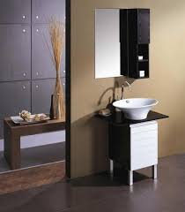 bathroom oak wood wall mounted bathroom cabinet in black