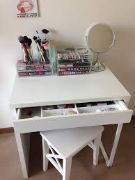 Ikea Small Desk Table Ikea Micke As Vanity Desk Dressing Table White Minimalist 2017