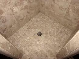 Concept Design For Tiled Shower Ideas Floor Shower Floor Tile Installation Best Size