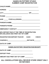 camp registration form template business word free download summer