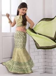 indian latest designer silk lehenga choli for kids indian kids
