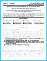 Business Consultant Resume Consultant Resume Objective