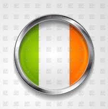 irish flag in round metallic icon vector image 53846 u2013 rfclipart