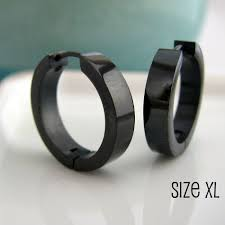 s mens earrings large black hoop earrings for men black stainless steel