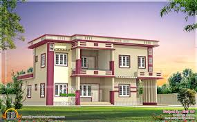 contemporary villa in different color combinations kerala home