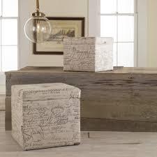 storage ottomans walmart com storage cube ottoman canada faux