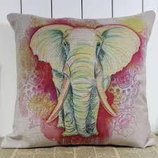 amazon com linkwell colorful elephant wild animal linen burlap