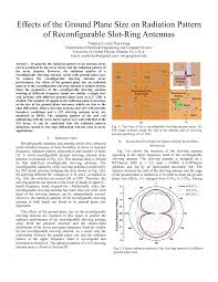 effects of the ground plane size on radiation pattern of