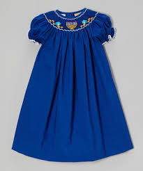 hanukkah clothing bemine blue hanukkah bishop dress infant toddler zulily