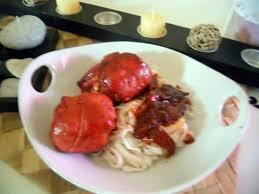 cuisine chinoise porc recette de paupiette de porc laqué et pate chinoise