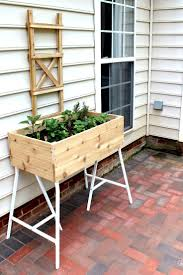 ikea garden bed make this how to build an elevated garden bed trestle legs