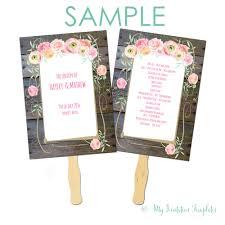 wedding program fan template black light party invitation templates country flower wedding