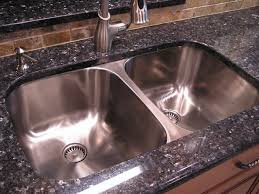Granite Undermount Kitchen Sinks by Stainless Undermount Kitchen Sinks On The Granite Black Cabinets