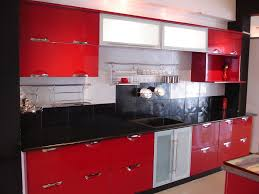 cool modular kitchen designs red white gallery best inspiration