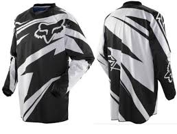 jersey motocross fox costa motocross jersey black white bargain bike bits