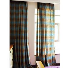 Brown Linen Curtains Innovative Blue Linen Curtains And Classic Dark Blue Plaid