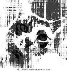 clipart of black and white sketch of sad cat k21137482 search