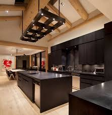 dark brown kitchen cabinets with granite