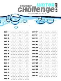Water Challenge How To Do 30 Day Water Challenge Printable Meal Prepping Planning