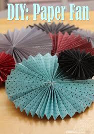 paper fan sweet sugar blossoms diy paper fans