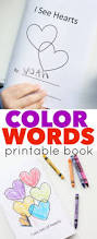 valentine s day color words printable book for valentine u0027s day books and