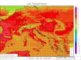 European Weather Map by Heat Wave Over The W Cntrl Europe Continues Outlook For Tuesday