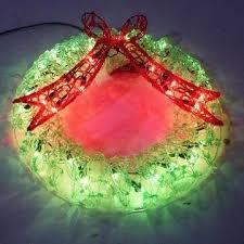 led wreaths happy holidays