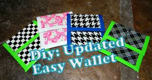 diy updated duct tape easy wallet youtube