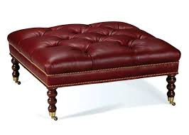 Leather Storage Ottoman Bench Boots Western Ottoman Western Ottomans Handsome Tufted Leather