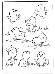 coloring pages easter chicken 1 crafts eastern