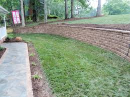 Patio Retaining Wall Ideas Landscape Beautiful Authentic Looking Of Landscape Blocks Menards