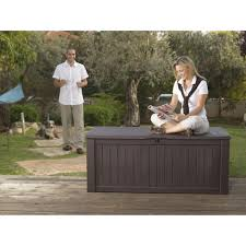 Waterproof Patio Storage Bench by Modern Outdoor With Keter Rockwood Huge Plastic Garden Storage
