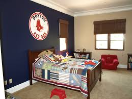 Navy Accent Wall by Baseball Room Take Down The Sox Shi And Put Up Some Yankees