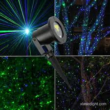 garden laser light green and blue