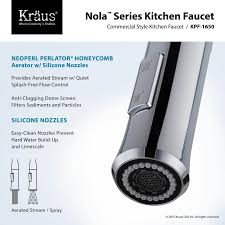 kraus commercial pre rinse chrome kitchen faucet faucet com kpf 1650 in chrome by kraus