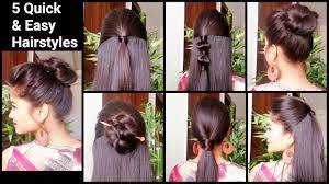 hairstyles quick and easy to do m 5 quick easy hairstyles for medium to long hair back to school