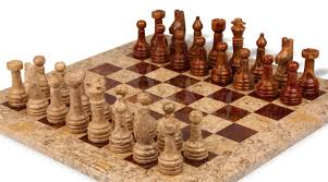 classic coral stone u0026 red marble chess set 3