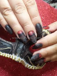 eye candy nails u0026 training sheer black and red gel with freehand