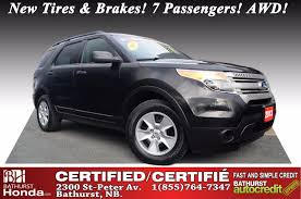 used 2013 ford explorer awd at edmundston honda 40519