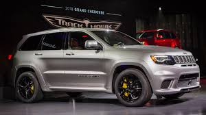 jeep cherokee black with black rims the hellcat powered 2018 jeep trackhawk is quicker 0 60 than the