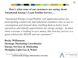 memphis light gas and water customer service our solution 1 automated energy s prophet load profiler allows our