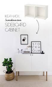 eket hack ikea besta hack scandinavian sideboard cabinet tutorial by