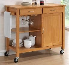 kitchen trolleys and islands harrogate hevea hardwood kitchen trolley island oak finish
