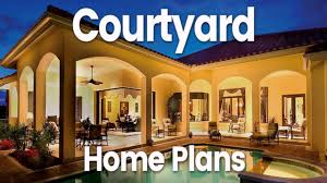 house plans with front courtyard youtube