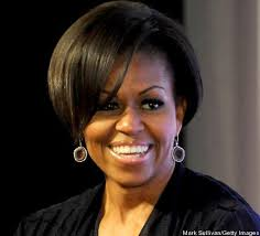 does michelle wear a wig michelle obama has another new hairstyle with bangs google