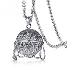 stainless steel necklace pendants images Buy 20 39 39 chains stainless steel men 39 s basketball jpg