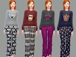 mysimlifefou s sweet pajama set
