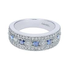 gold diamond band 14k white gold diamond and sapphire wide band ring color